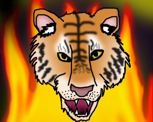 The flames of the Tiger by Willowcat