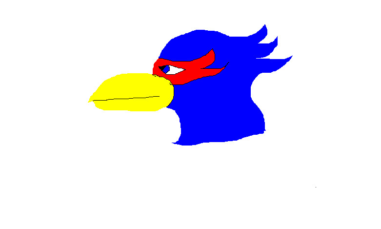 Falco Head on Paint by Windthor