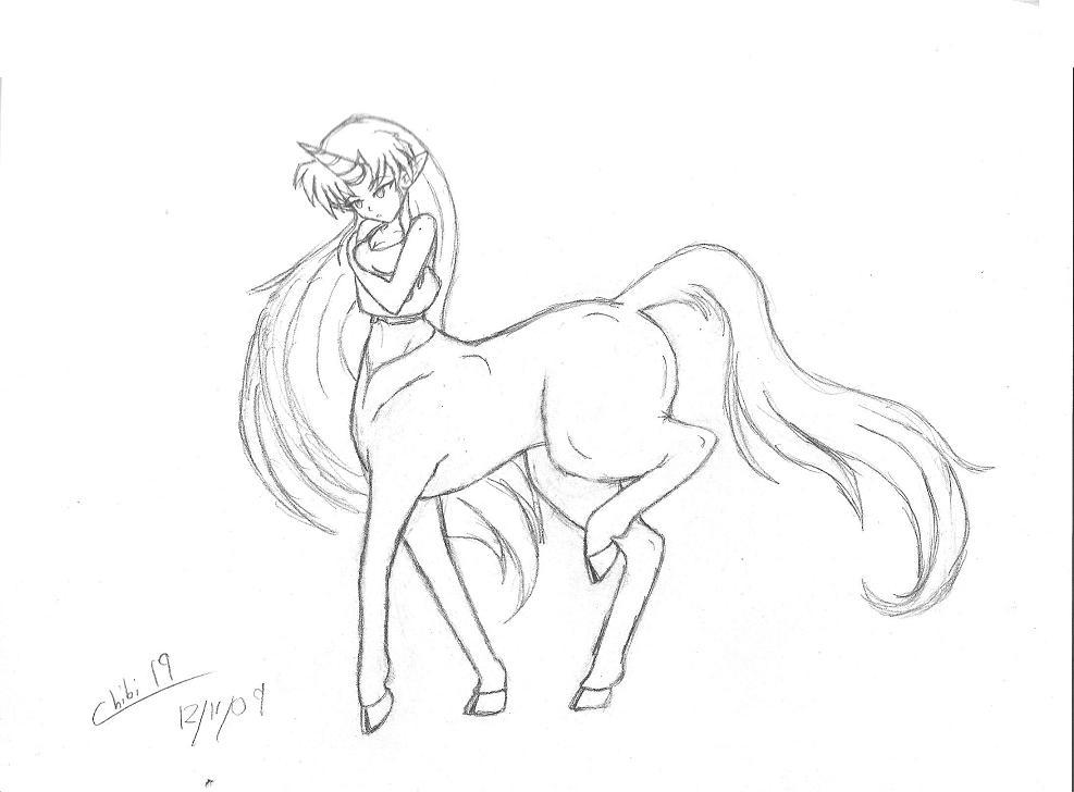 Unicorn Centaur by WinterRose19