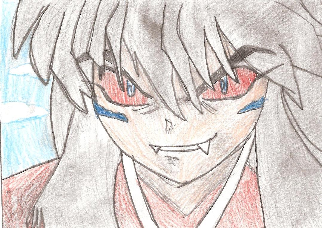 Grinning demon inuyasha by Wispy