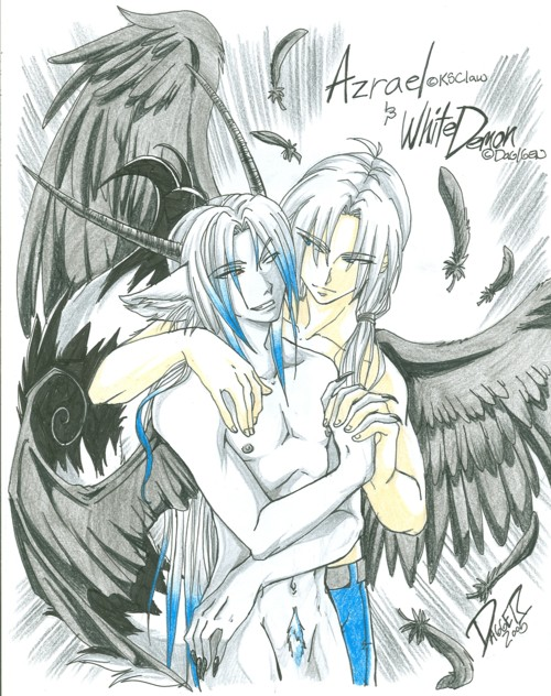 Azrael w/ White Demon(trade) by WolfanthroOtaku