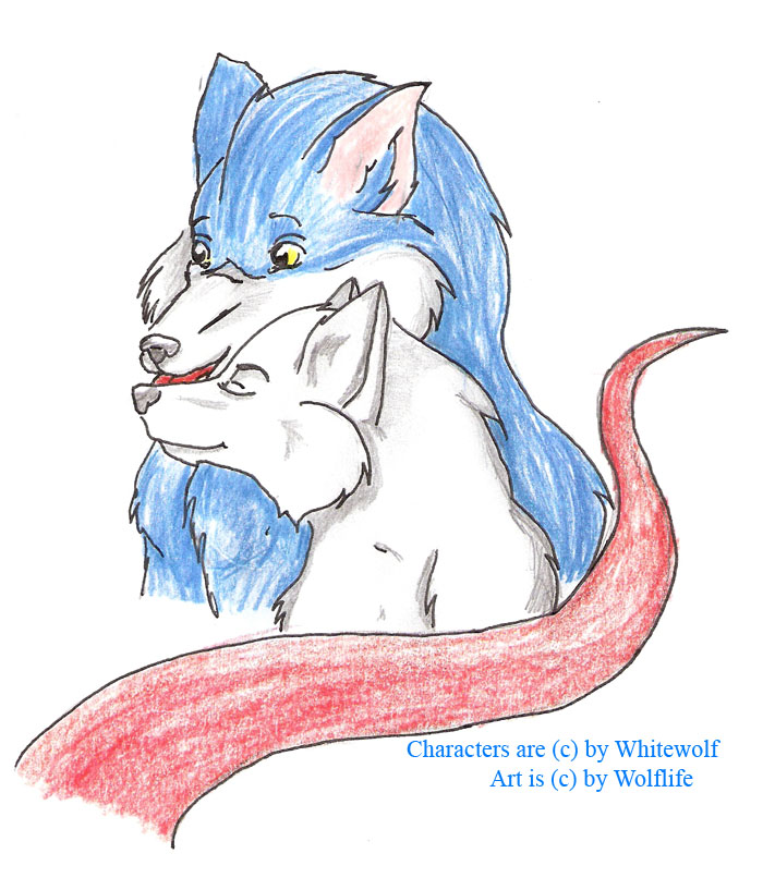 Arttrade with Whitewolf by Wolflife