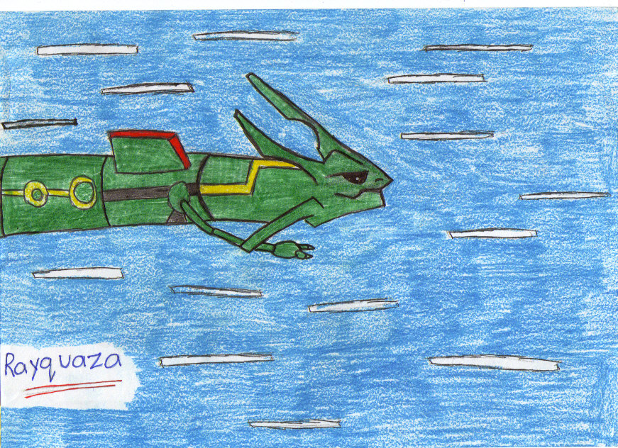 Rayquaza Coloured by Wrath7Sins