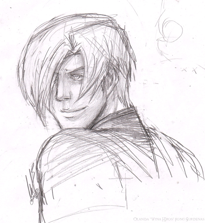 Leon doodle RE4 by WynaHIros