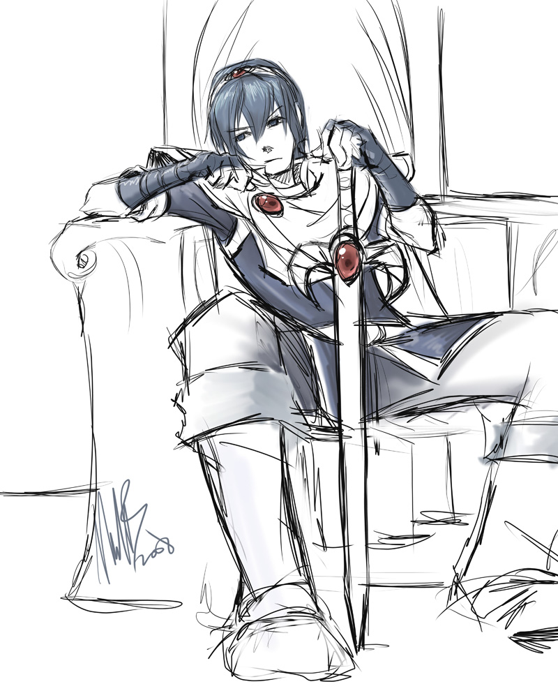 Fire Emblem/Smash bros - Marth by WynaHIros