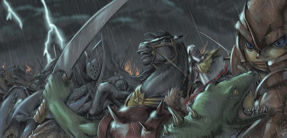 Zelda Oot - Lightning Clash by WynaHIros