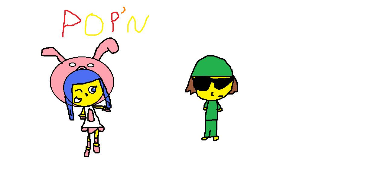 an epic fail attempt at drawing the pop'n characters by waluigiguy22