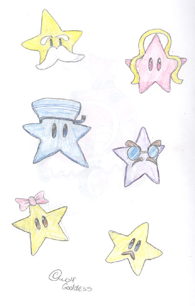 Mario Party 5 Star Hosts by wolf_goddess
