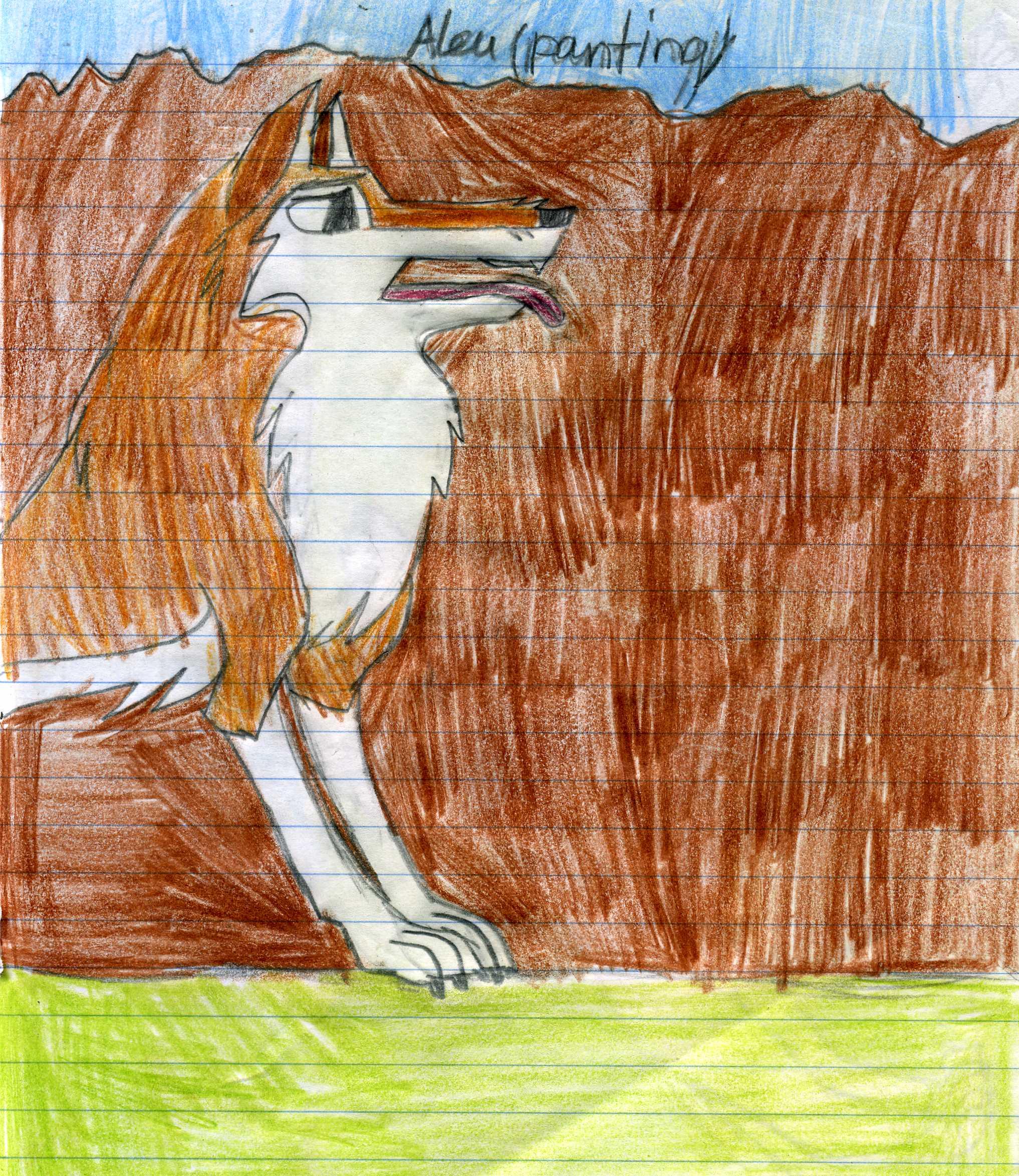 aleu panting by wolfwhisperer