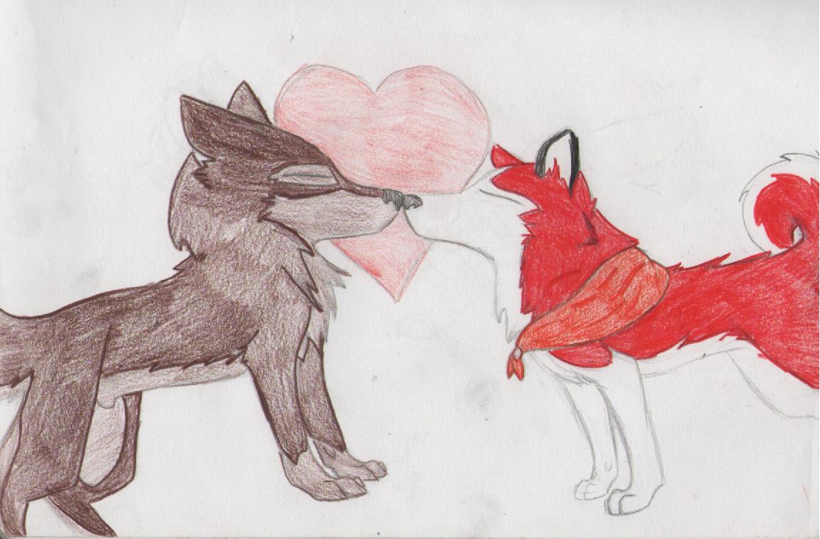 Balto and Jenna <3 by wolfwhisperer