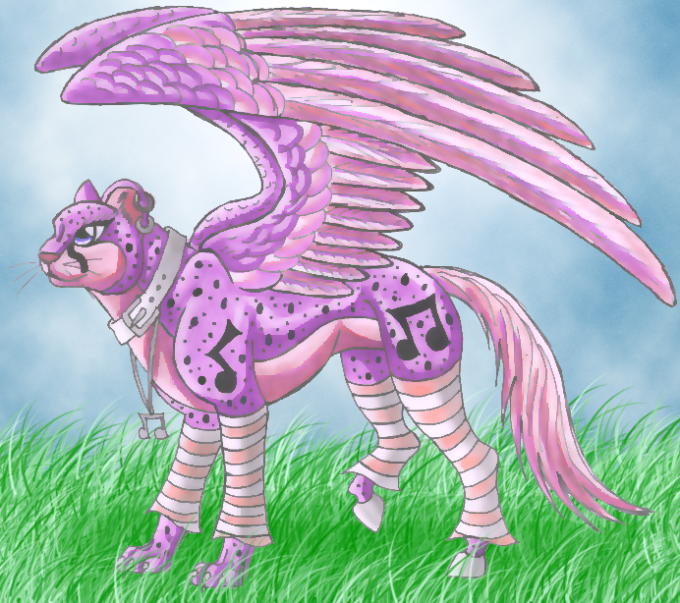 Purple Cheetah Horse by wolfymewmew