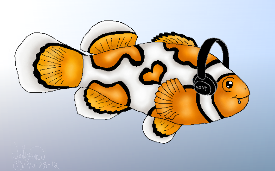 Clown Fish Fursona by wolfymewmew