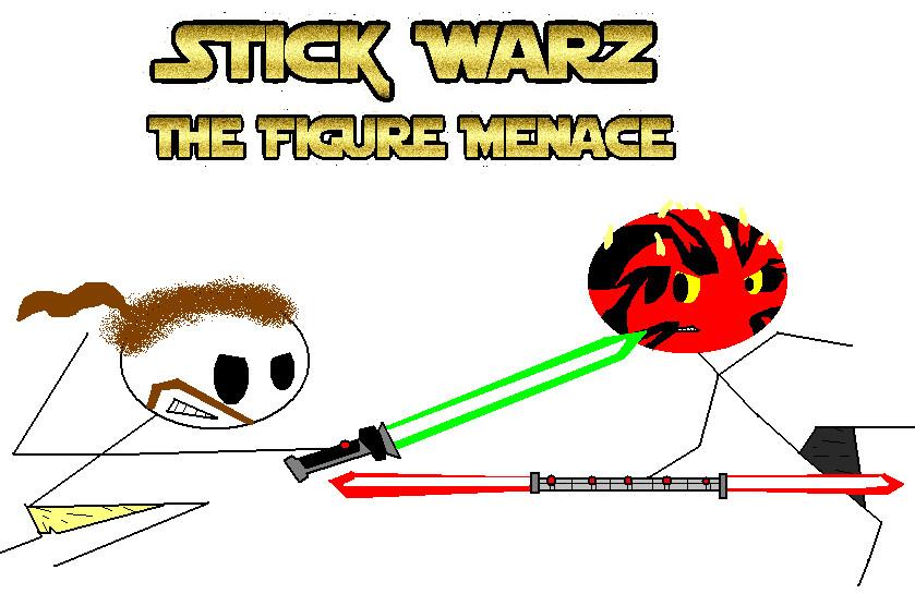 Stick Warz The Figure Menace by woodlandkids