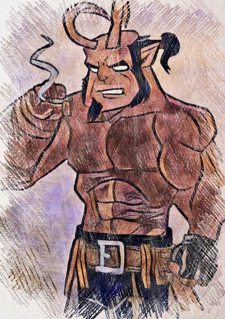 Hellboy by wrightmother