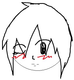Anime Drawing Wink by X_Ramen_Freak_123_X