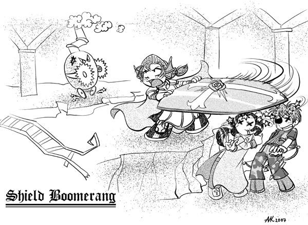 Cruz's skills: Shield boomerang by Xanth