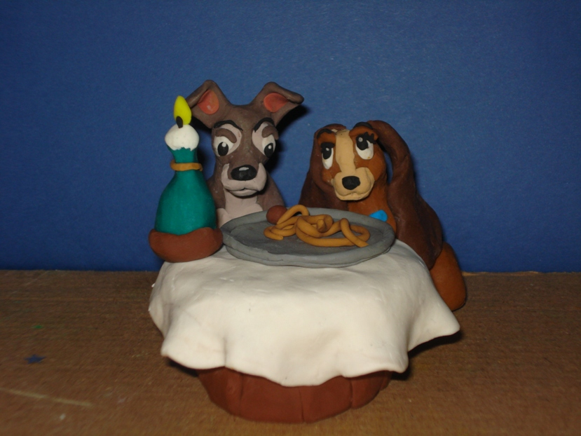 Lady and the tramp claymation by Xiakeyra