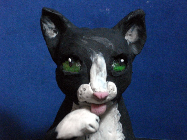 A clay cat animation by Xiakeyra