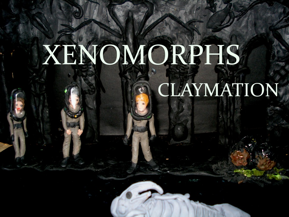 xenomorphs claymation by Xiakeyra