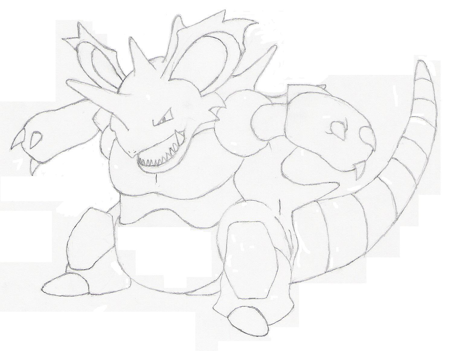 Nidoking sketch by Xtreme2252