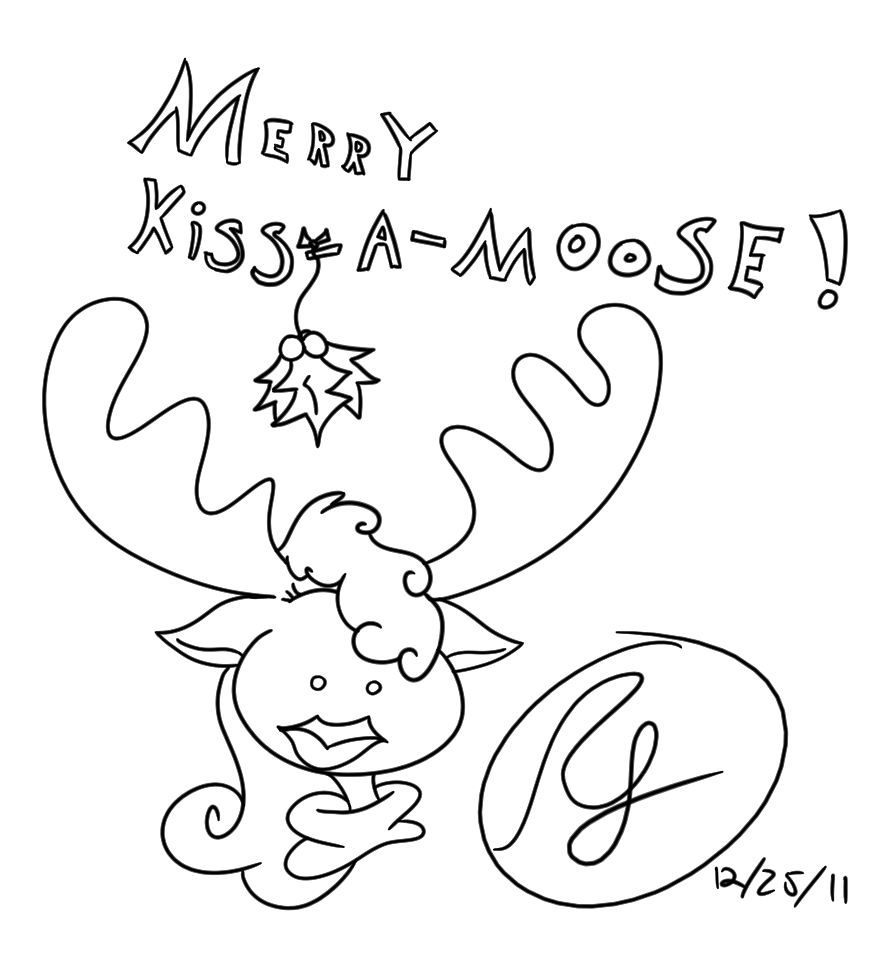 Merry Kiss-A-Moose! by Xzontar