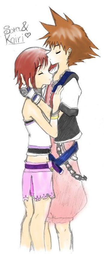 *Sora and Kairi* by x3rikku