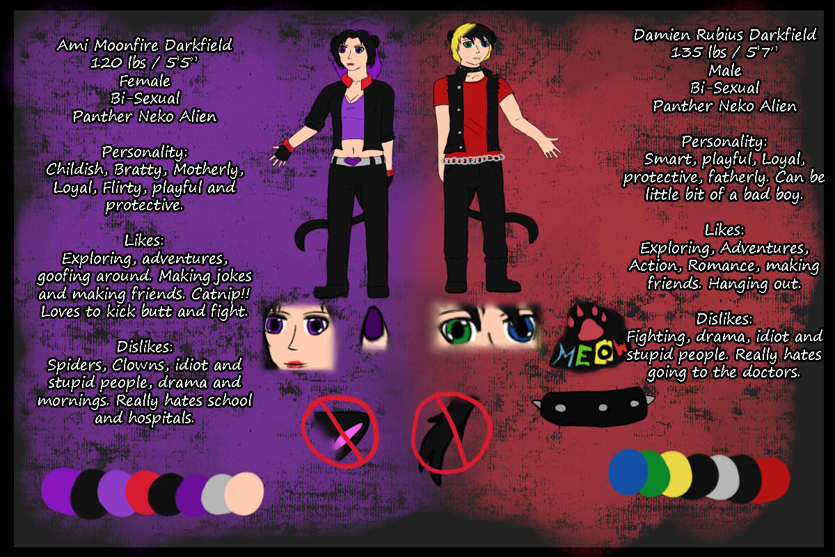Darkfield Twins Reference Sheet by xAmiDarkfieldx