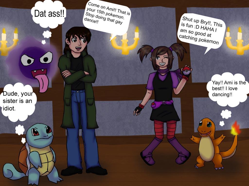 Pokemon Trainer Twins, Ami and Bry by xAmiDarkfieldx