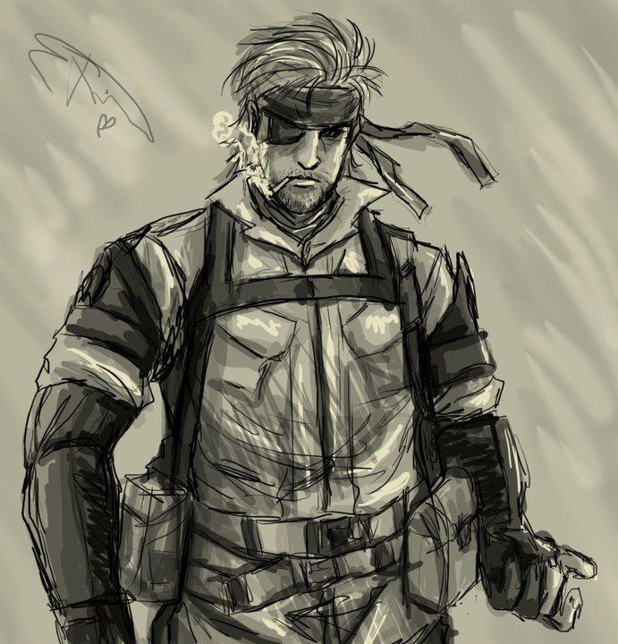 MGS Sketchy!! by xBlueAngel