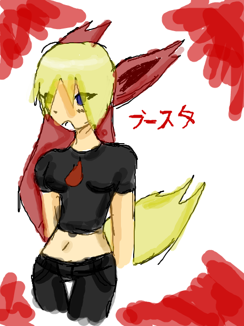 Gijinka time: Flareon! by xMagneticBaby