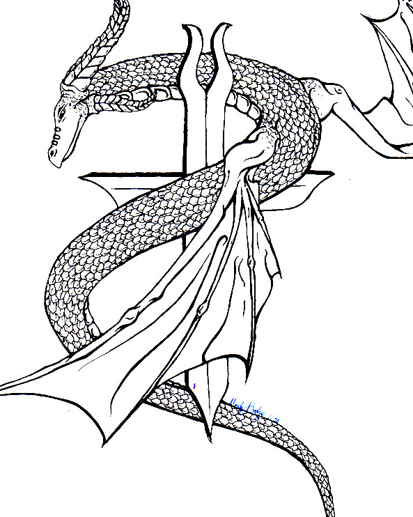 Untitled Dragon/Serpent. by xScenex