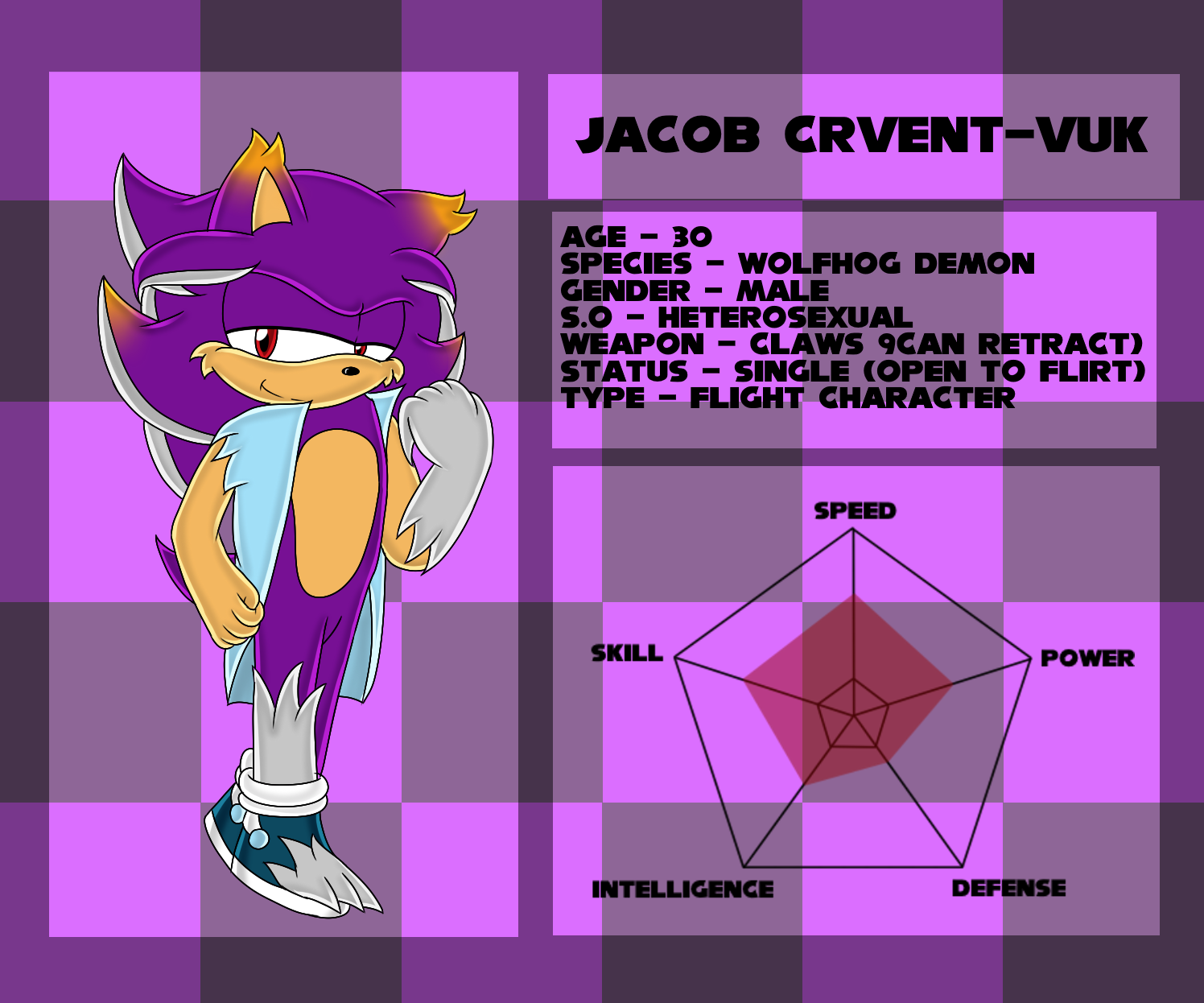 Reference Sheet .:Jacob Crvent-Vuk:. by xXElectric-HybridXx