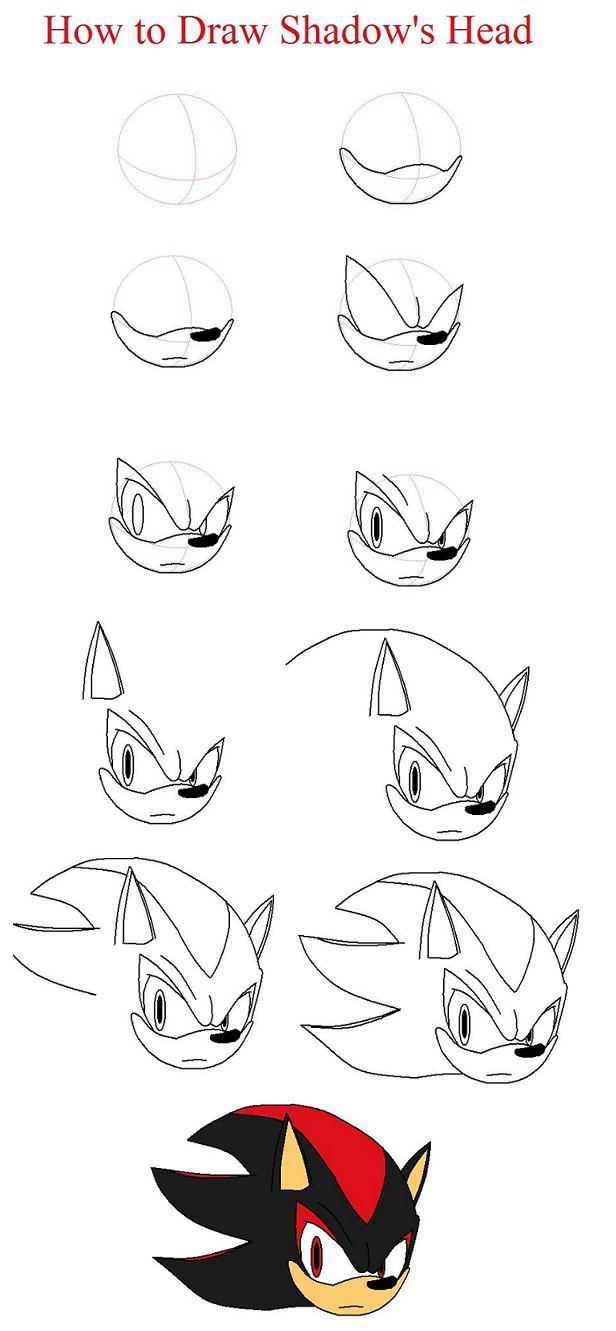 How to draw Shadow the Hedgehog by xxXShadowWolfXxx ...