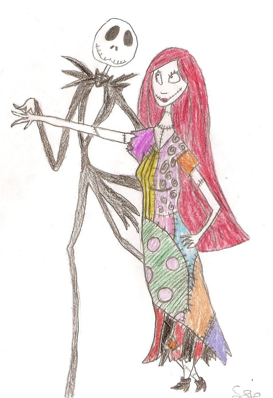 Jack and Sally by Yoshi4EverAfter