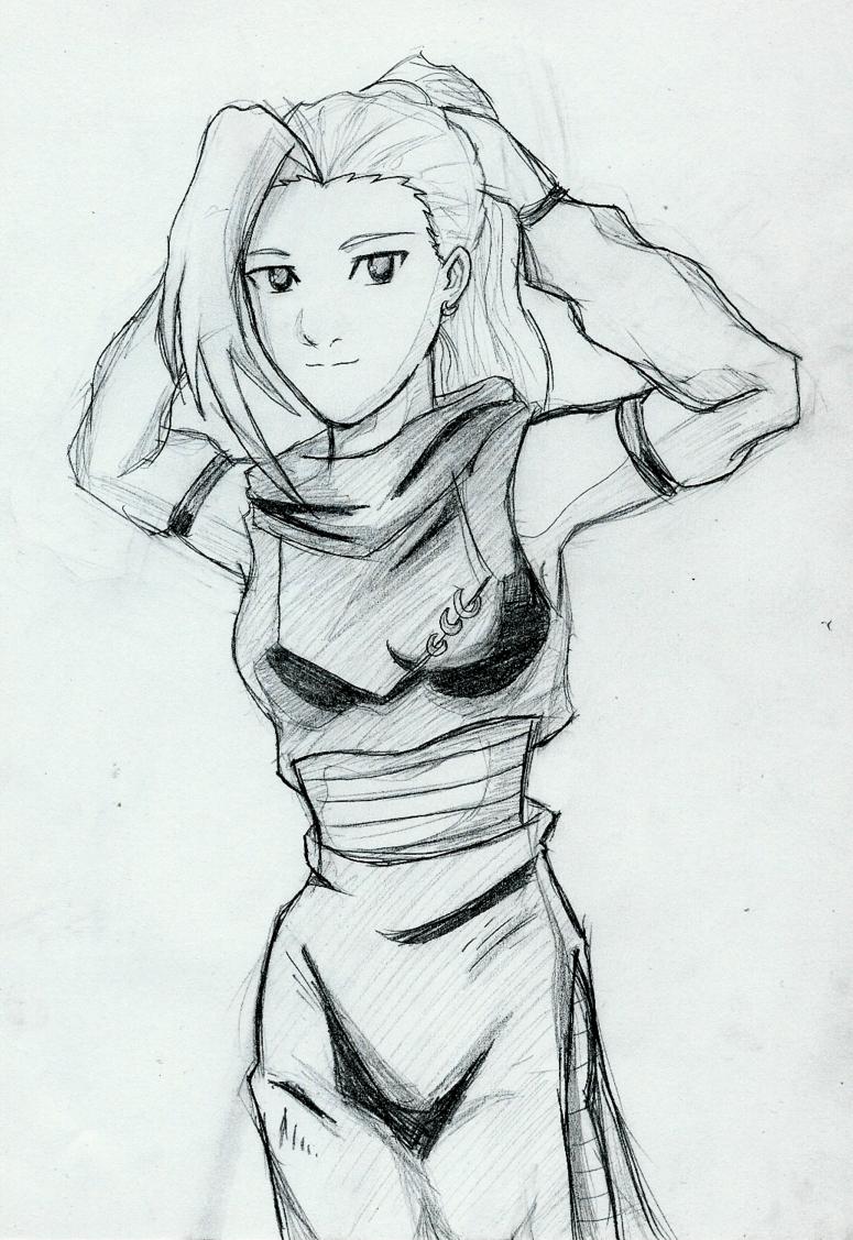 Ino Sketch by YuriLuvHer