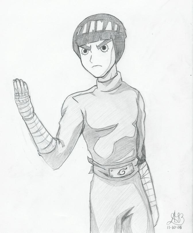 Rock Lee Sketch by YuriLuvHer