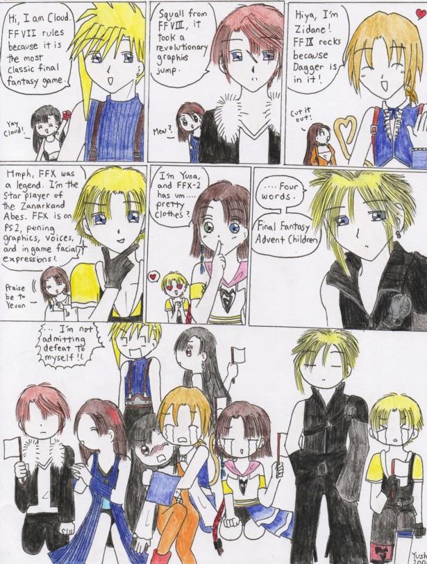 Final Fantasy funny comic by Yushi