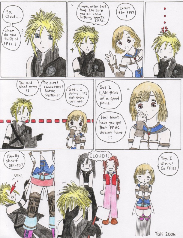 Final fantasy funny comic pt. 2 by Yushi