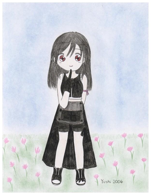 Chibi Tifa (fully colored ^^) by Yushi