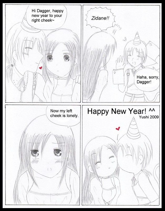 FF9 - New Years comic by Yushi