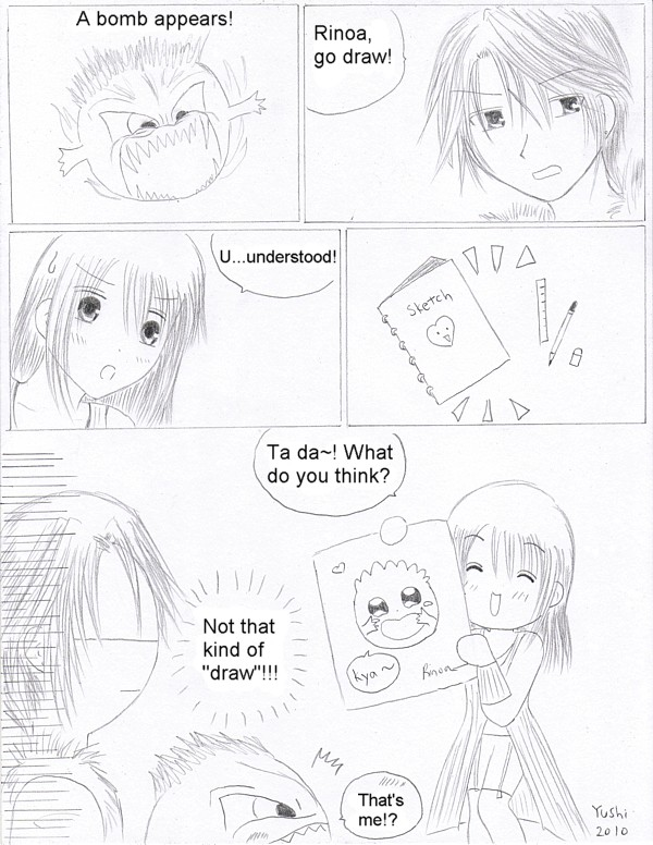 FF8 comic - Drawing by Yushi