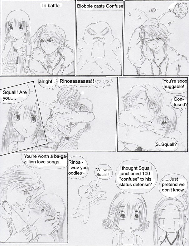 "FF8 colalb comic: ""Confused"" by Yushi"