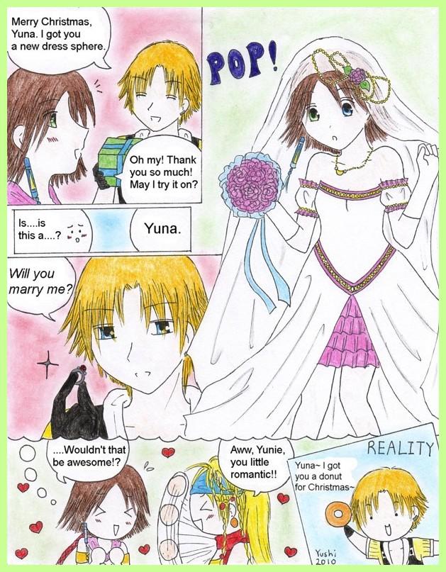 FFX comic: Christmas wish by Yushi