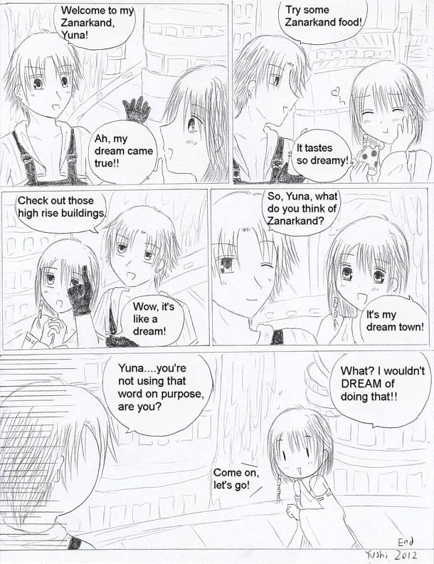 FFX comic: Yuna visits Zanarkand by Yushi