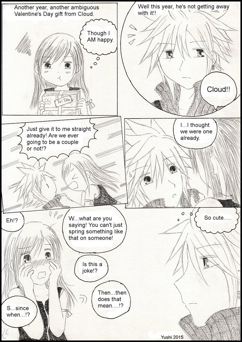FF7: An 'ambiguous' Valentine's Day by Yushi
