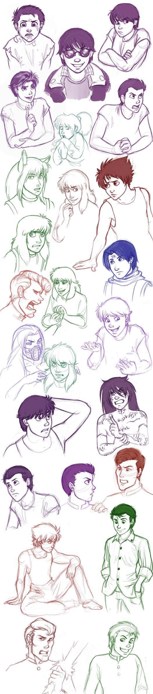 Yu Yu Hakusho Sketch Dump by Yusuke_SprtDtctv