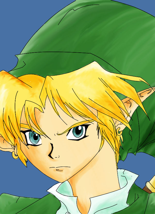 Link he come to town colored by yaoi_is_my_life