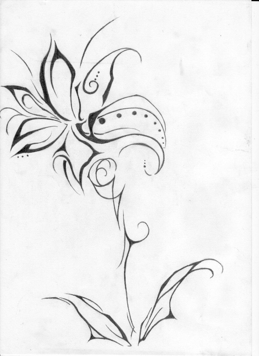 flower tattoo by yavanna