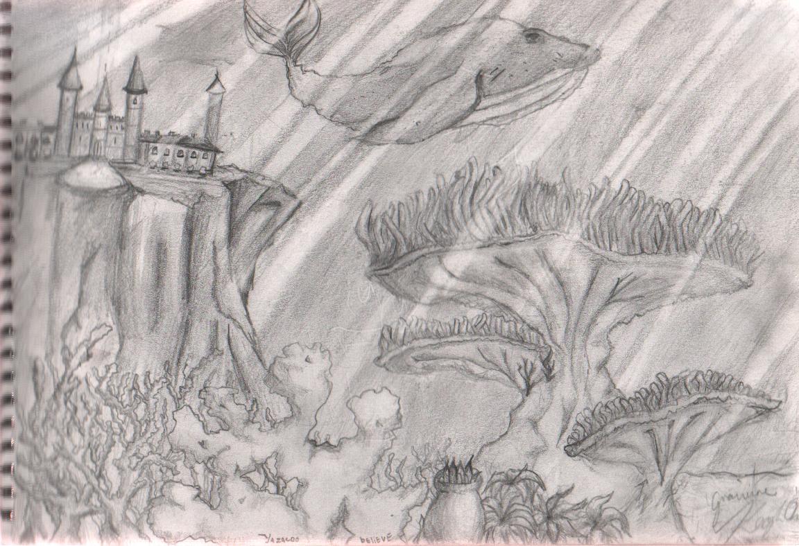 *underwater fantasy scene* by yazacoo