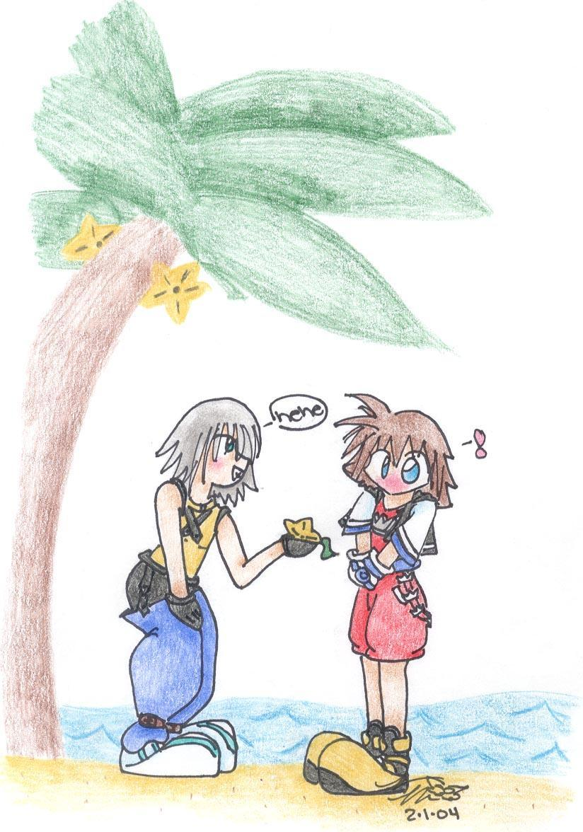 Chibi Sora and Riku - Paopou (for Honodemigoddess) by yume_no_neko
